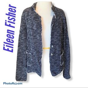 Eileen Fisher Cardigan Charcoal Size Small
